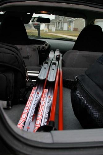 Iris with skis