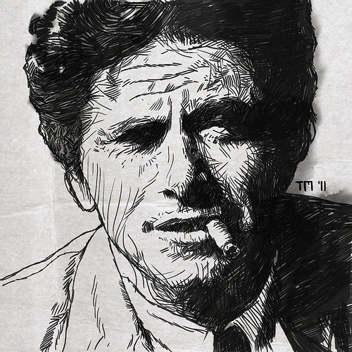 Portrait Drawing Of Peter Falk As Inspector Columbo