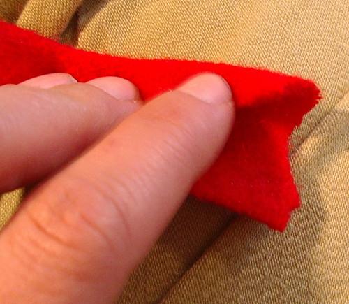 folding inside of t start braid