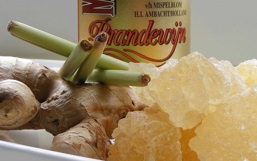 Ingredients for Lemongrass & Ginger Liqueur