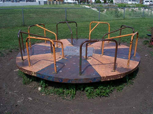 Vintage Playground Equipment With Fun Pictures