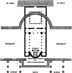 Basilicas de Constatino (negro) y de Teodosio (gris)