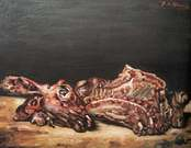 Giorgio de Chirico. Abbacchio macellato, 1948.