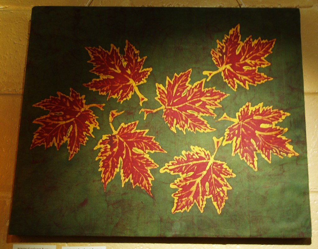 small Ohio leaves (18x22)--- this is the one that sold last night!