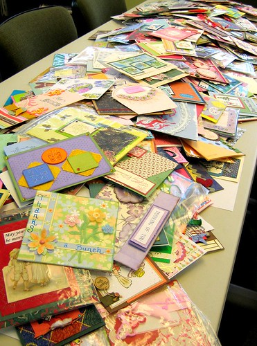We donated the 2008 entries that were not selected to www.cardsforheroes.com