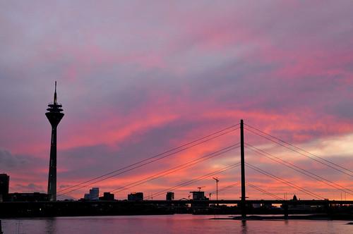 Rheinturm in Dusseldorf, Germany