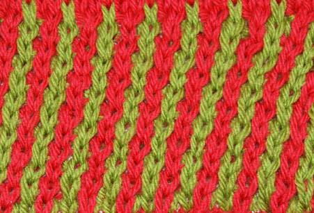 Leaning Stripe Pattern