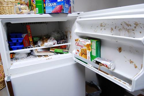 Work freezer mess