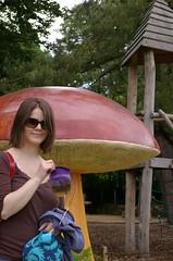 Giant mushroom at the botanical gardens in Geneva