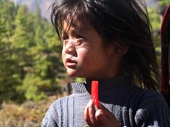 Estaba más concentrada en el caramelo que en los Annapurnas...