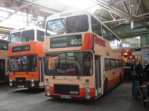 3320 MCW Metrobus D320 LNB and 3001 Leyland Olympian ANA 1Y (both Northern Counties bodies)