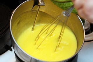 making mango curd