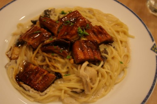 Eel and Mushroom Spaghetti at UCC