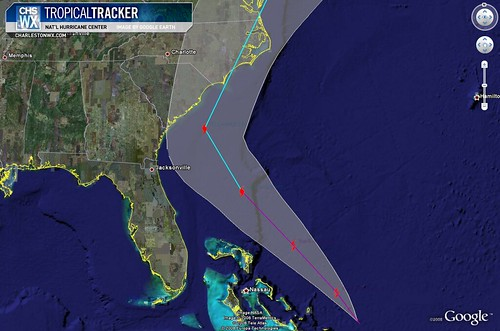 Tropical Storm Hanna 11PM Advisory 09/03:  Track + Uncertainty Cone