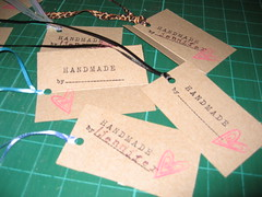 """handmade by"" labels"