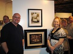 Marc & Sara at Sara's gallery debut