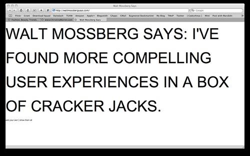 Walt Mossberg Says