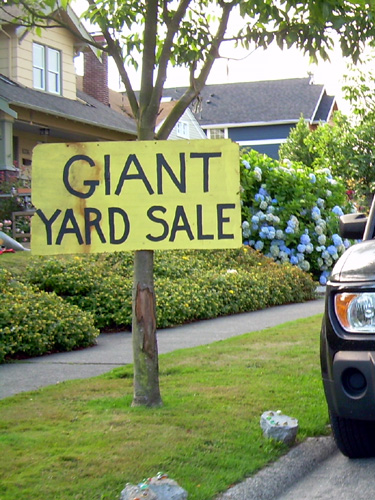 Giant Yard Sale Sign
