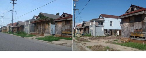 St Maurice 923 before and after demolition by PRC Advocacy Department.