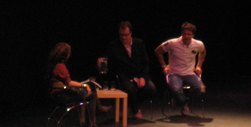 Caitlin Moran, Russell T Davies and John Barrowman