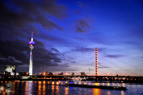 Rheinturm in Dusseldorf, Germany
