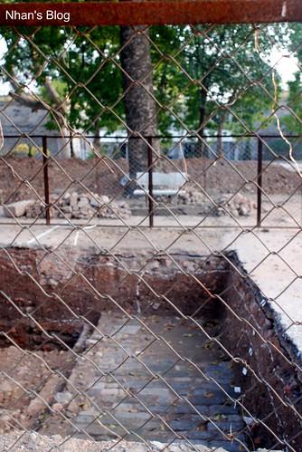 Hố thám sát khảo cổ trục Đoan Môn - Kính Thiên