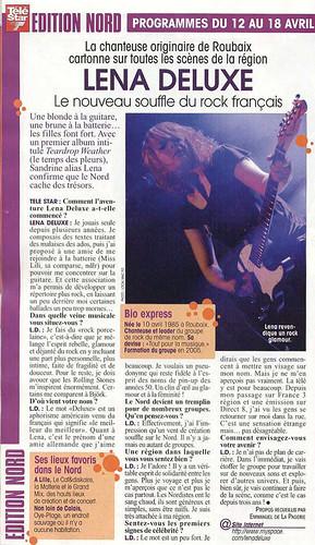 Lena Deluxe dans TeleStar