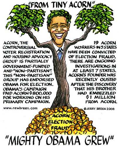 Obama & Acorn by newbreen.