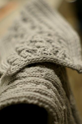 scarf end
