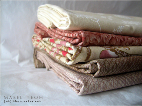Fabric stash from Cotton & Color