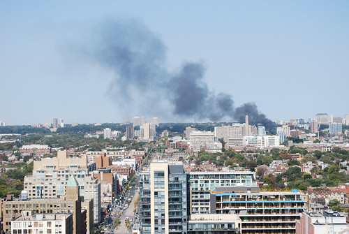 Fire near University of Toronto