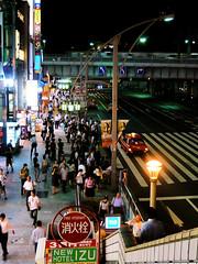 Ueno sidewalk