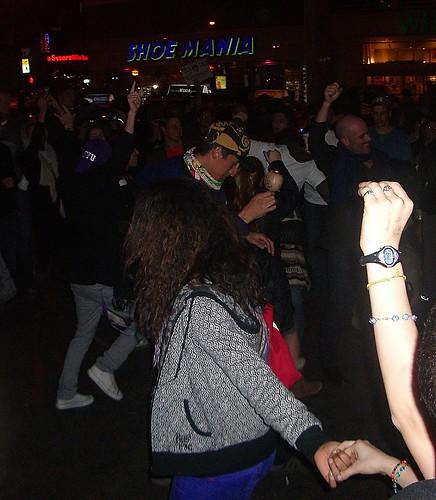 Fiesta espontánea en Union Square