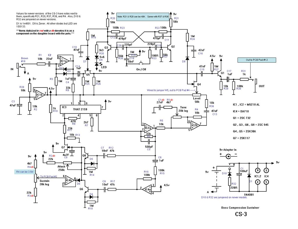 Boss Cs 3 Schematic Redrawn