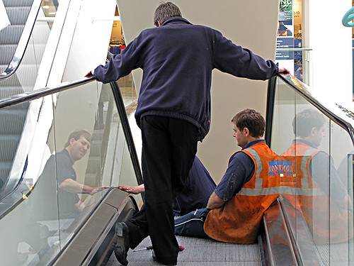 mending the escalator (triptych)
