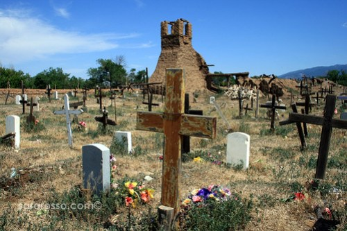Taos Adobe Pueblo Cemetary