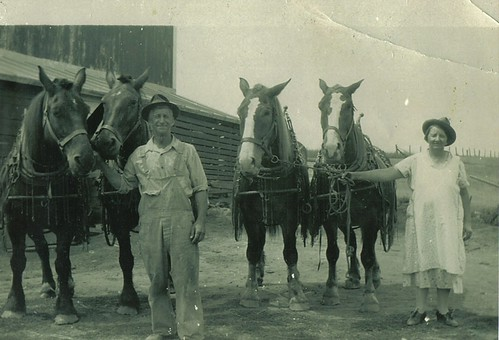 My great-grandparents on the Laufenberg family farm
