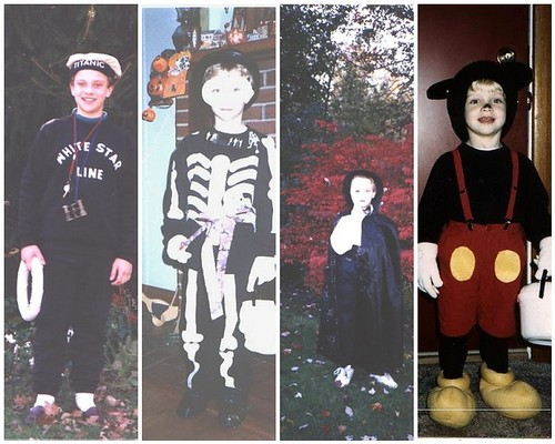 Sean in his Halloween disguises