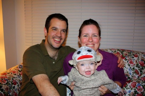 Sock Monkey Maddie & her parents