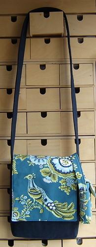 Amy Butler peacock bird messenger bag and matching little bag
