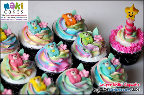 Lolipop Swirl Cupcakes - Maki Cakes