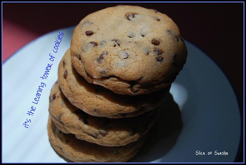 leaning tower of cookies