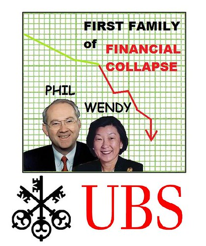 Phil Gramm Aboard Foundering Swiss Bank