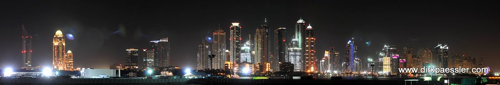 Dubai Marina - Night Panorama