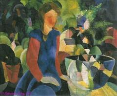 'Mädchen mit Fischglocke' von August Macke (1914)