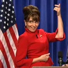 Tina Fey as Sarah Palin on Saturday Night Live