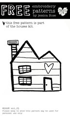 FREE embroidery house pattern