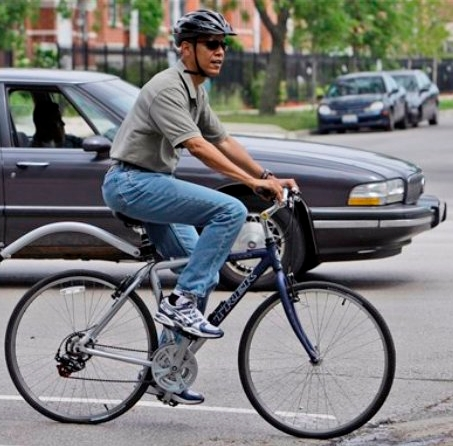 Obomba on bike