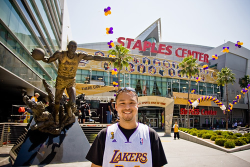 Me at Staples - Game 4 NBA Finals