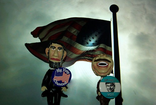 Abe and Teddy get out the vote!